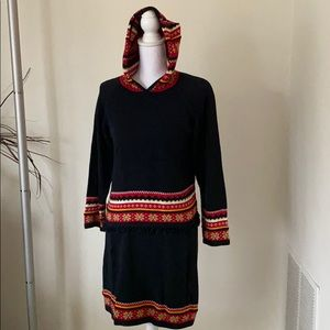 Hanna Andersson matching sweater and skirt set
